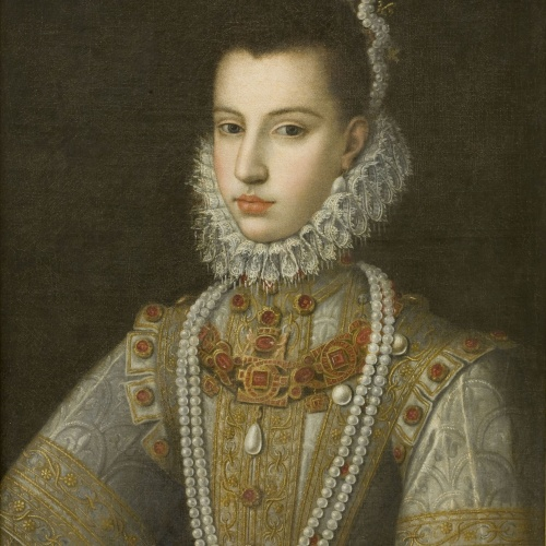 Alonso Sánchez Coello - Portrait of the Infanta Catherine Michelle - Between 1582-1584