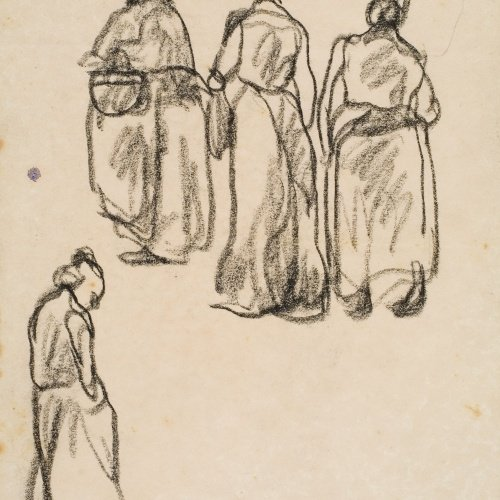 Isidre Nonell - Sketch of women - Circa 1911