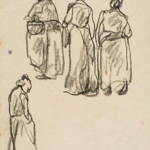 Isidre Nonell - Apunt de dones - Cap a 1911