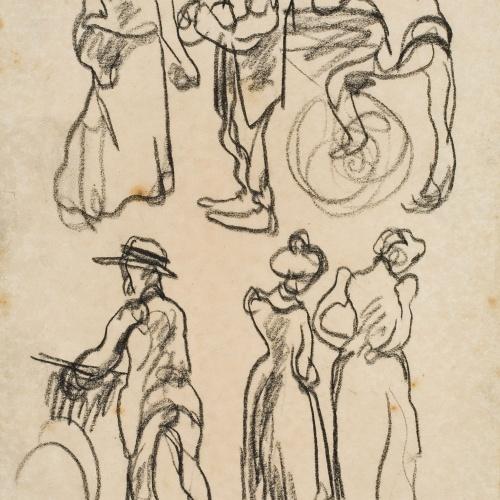 Isidre Nonell - Apunt de figures - Cap a 1911
