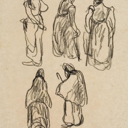 Isidre Nonell - Figure sketch - Circa 1911