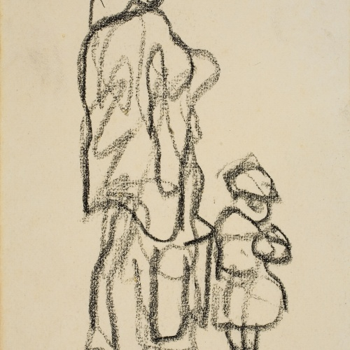 Isidre Nonell - Sketch of a woman and child - Circa 1911
