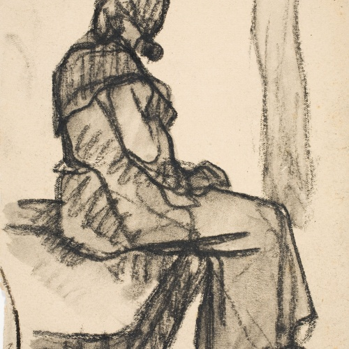 Isidre Nonell - Woman seated - Circa 1909