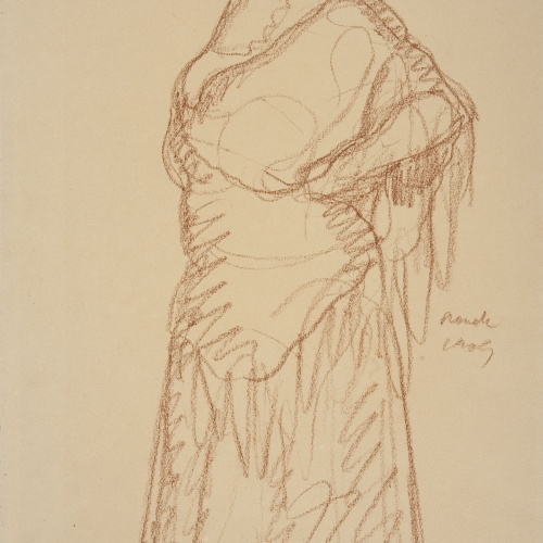 Isidre Nonell - Gypsy woman standing - 1909