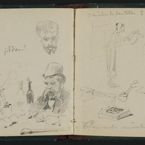 Apel·les Mestres - Figure sketches - Circa 1878