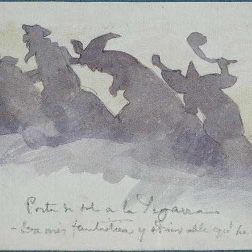 Apel·les Mestres - Sunset in Segarra - 1880