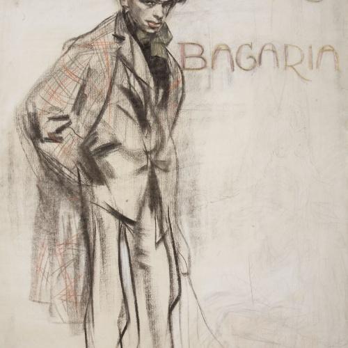 Ramon Casas - Retrato de Lluís Bagaria - Hacia 1910