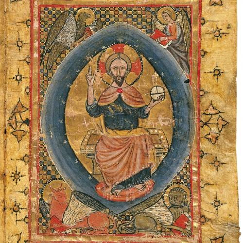 Anònim - Crist en Majestat amb els símbols dels Evangelistes - Segon quart del segle XIV