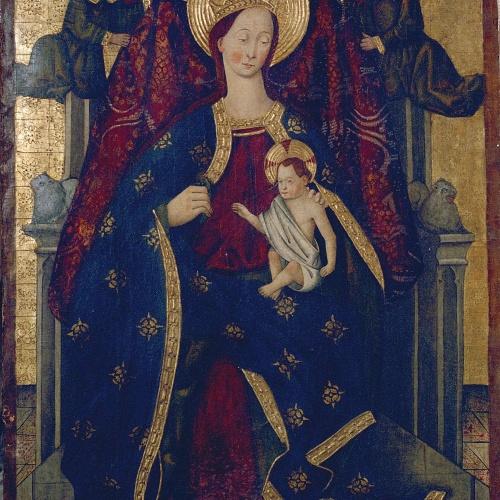 Anònim. Aragó - Mare de Déu amb el Nen i àngels - Segona meitat del segle XV