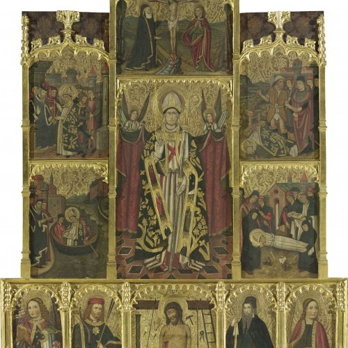 Jaume Huguet - Altarpiece of Saint Cyprian - Circa the last quarter of the 15th century