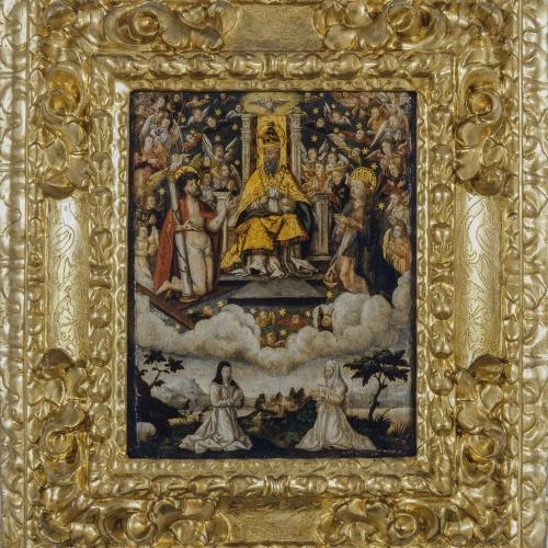 Anònim. Castella - Santíssima Trinitat amb donants - Entre 1540-1570