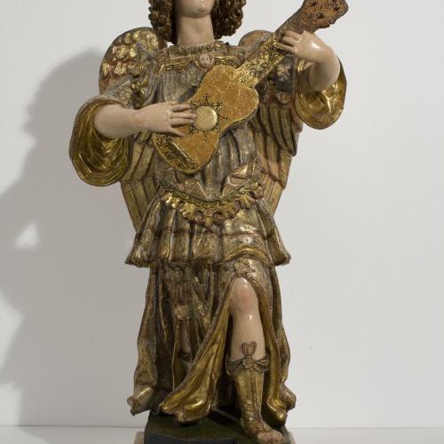 Anònim. Itàlia. Nàpols - Musician Angel - First quarter of the 17th century
