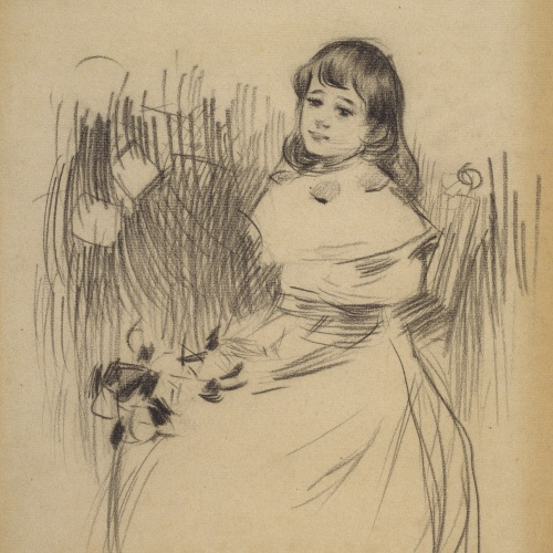 Ramon Casas - Estudi per al quadre «Retrat de Maria Rusiñol Denís» - Cap a 1893