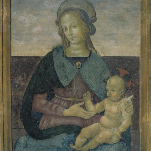 Pietro di Cristoforo Vannucci (Perugino) - Mare de Déu amb el Nen Jesús - Últim decenni del segle XV