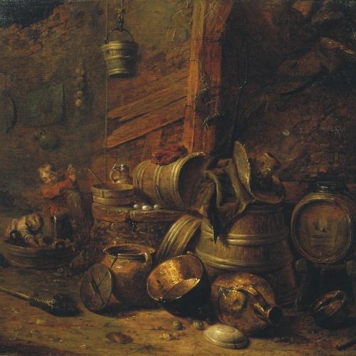 Pieter Quast - Interior de celler - 1636