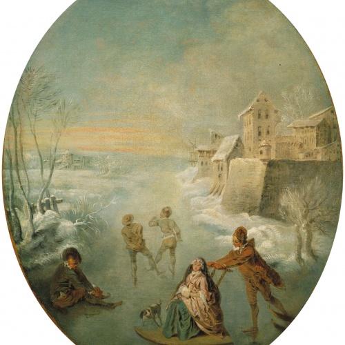 Jean-Baptiste Pater - L'hivern - Cap a 1725