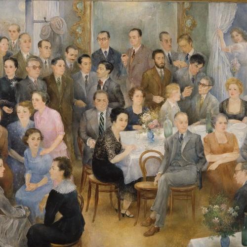 Olga Sacharoff - La colla - Cap a 1945