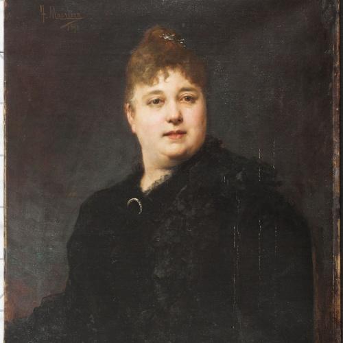 Francesc Masriera - Female portrait - 1890