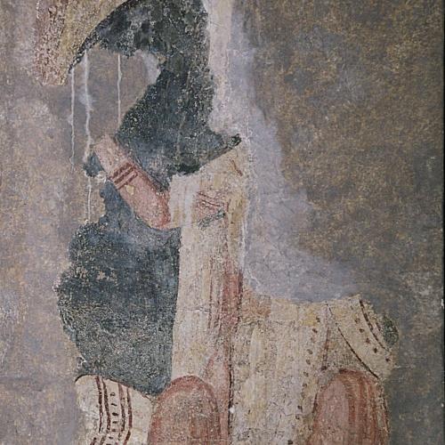 Anònim - Fragment amb figura entronitzada d'Àger - Últim quart del segle XI – primer quart del segle XII