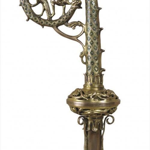 Anònim. França. Llemotges - Bàcul: Sant Miquel matant el drac - Llemotges, cap a 1230-1240