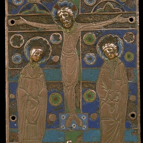 Anònim - Placa d'enquadernació: Crucifixió - Llemotges, cap a 1190-1200