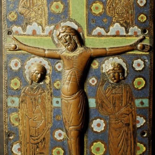 Anònim - Placa d'enquadernació: Calvari - Llemotges, segon terç del segle XIII