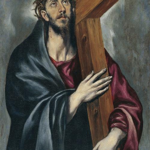 Doménikos Theotokópoulos (El Greco) - Crist amb la Creu - Entre 1590-1595