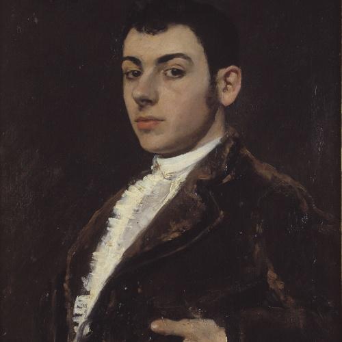 Ramon Casas - Male portrait - 1885