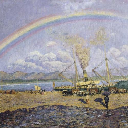 Darío de Regoyos - El xàfec. Badia de Santoña - 1900