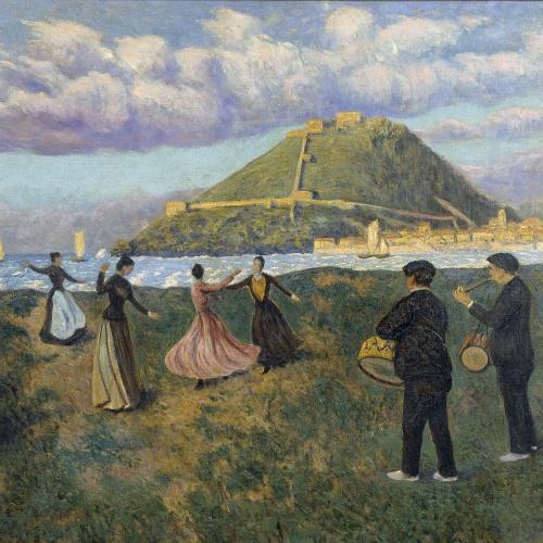 Darío de Regoyos - Festa basca (ball a El Antiguo, Sant Sebastià) - 1888