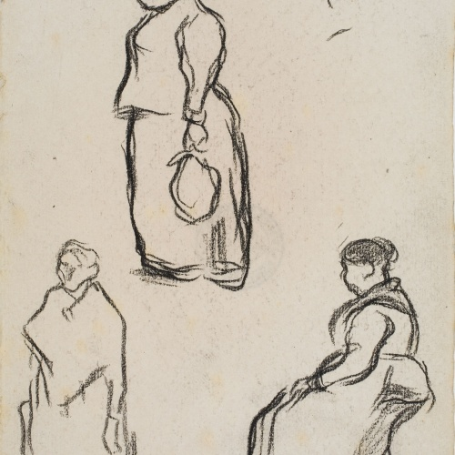 Isidre Nonell - Apunt de figures - Cap a 1894