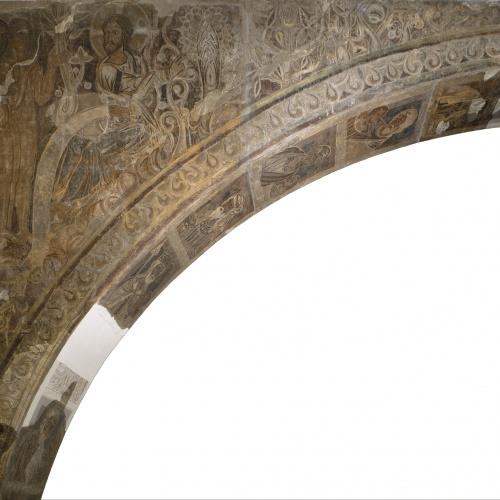 Mestre de la sala capitular de Sixena - Déu mostra el Paradís a Adam i Eva, de la sala capitular de Sixena - Entre 1196-1200