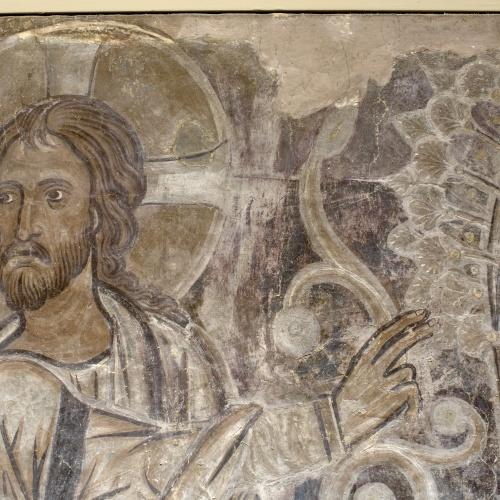 Mestre de la sala capitular de Sixena - Déu mostra el Paradís a Adam i Eva, de la sala capitular de Sixena - Entre 1196-1200 [2]