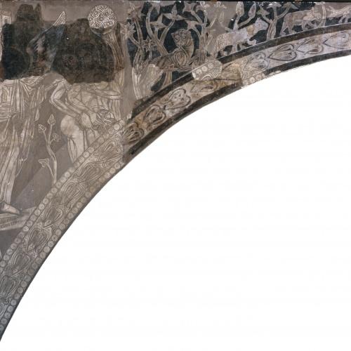 Mestre de la sala capitular de Sixena - Expulsió del Paradís, de la sala capitular de Sixena - Entre 1196-1208