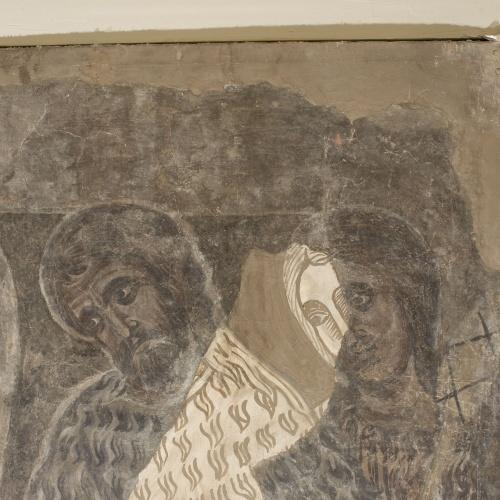 Mestre de la sala capitular de Sixena - Un àngel ensenya Adam a treballar la terra, de la sala capitular de Sixena - Entre 1196-1208 [1]