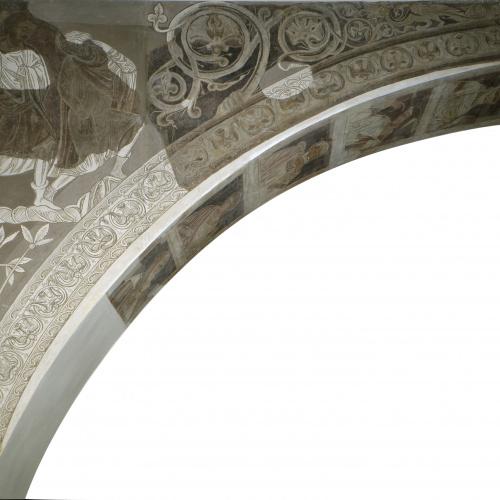 Mestre de la sala capitular de Sixena - Caïm mata Abel, de la sala capitular de Sixena - Entre 1196-1208