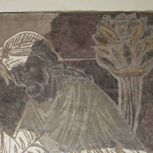 Mestre de la sala capitular de Sixena - Noè construeix l'arca, de la sala capitular de Sixena - Entre 1196-1208 [1]
