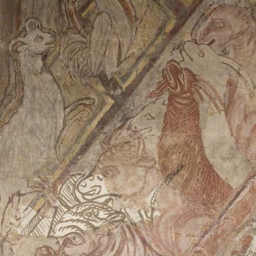 Mestre de la sala capitular de Sixena - Noè fa entrar els animals a l'arca, de la sala capitular de Sixena - Entre 1196-1208 [2]