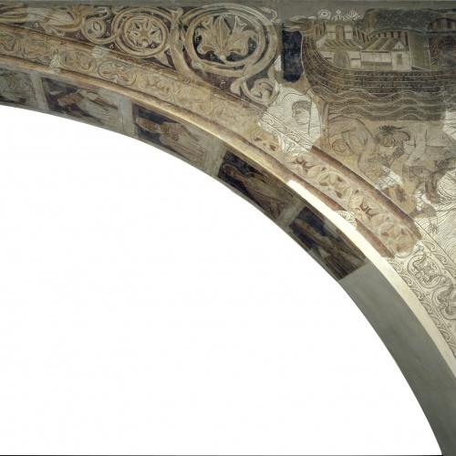 Mestre de la sala capitular de Sixena - Retorn del colom després del Diluvi, de la sala capitular de Sixena - Entre 1196-1208