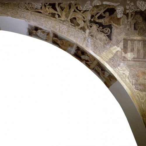 Mestre de la sala capitular de Sixena - Sacrifici d'Isaac, de la sala capitular de Sixena - Entre 1196-1208