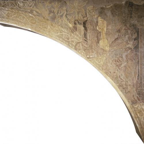 Mestre de la sala capitular de Sixena - Adoració del vedell d'or, de la sala capitular de Sixena - Entre 1196-1208