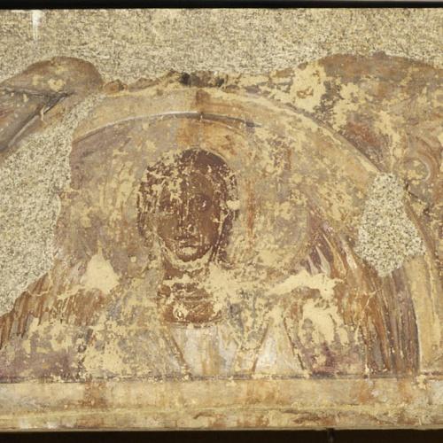 Mestre de la sala capitular de Sixena - Fris amb àngel i laberints, de la sala capitular de Sixena - Entre 1196-1208
