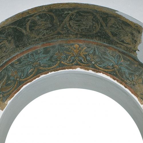 Mestre de la sala capitular de Sixena - Intradós d'un arc d'accés al claustre de la sala capitular de Sixena - Entre 1196-1208