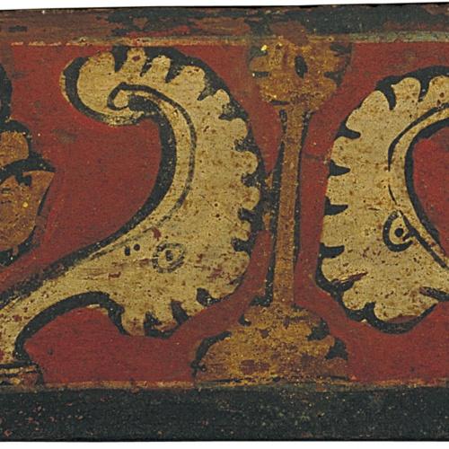 Anònim. Catalunya - Tauleta d'enteixinat amb motius vegetals - Finals del segle XIII