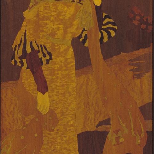 Gaspar Homar - Dama en un bosc - Cap a 1905