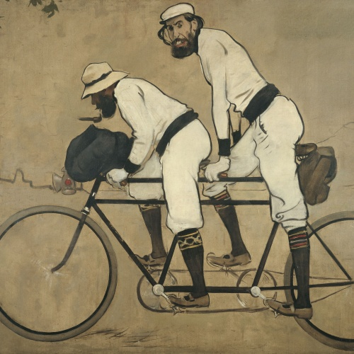 Ramon Casas - Ramon Casas y Pere Romeu en un tándem - Barcelona, 1897