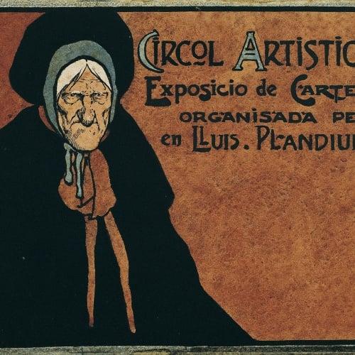 John Hassall - Estudi per al cartell «Circol Artistich. Exposicio de cartells organisada per en Lluis Plandiura» - Cap a 1902