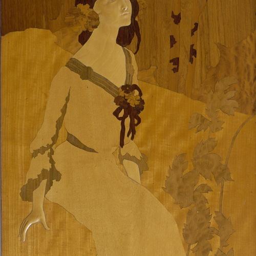 Gaspar Homar - Donzella al bosc - Cap a 1905