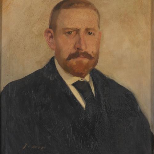 Joaquim Mir - Retrat d'Ezequiel Martín - Cap a 1935-1938
