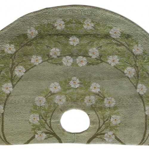 Gaspar Homar - Semicircular carpet with plant motifs - 1907